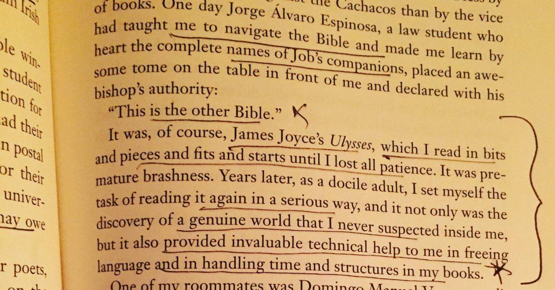 Gabriel Garcia Marquez on Ulysses by James Joyce