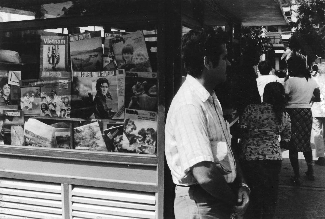 Newspaper stand in Havana Cuba 1986