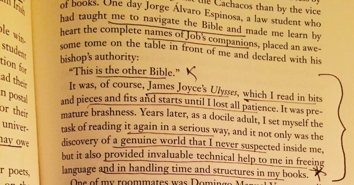 Gabriel Garcia Marquez on Ulysses by James Joyce